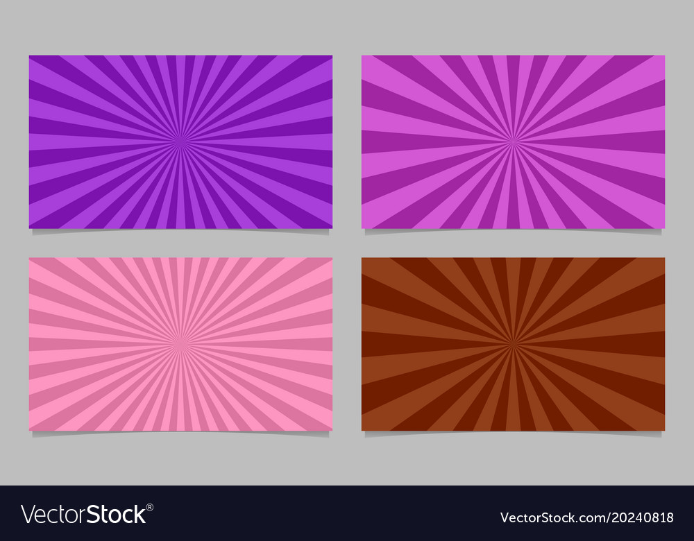 Abstract colored ray burst pattern card