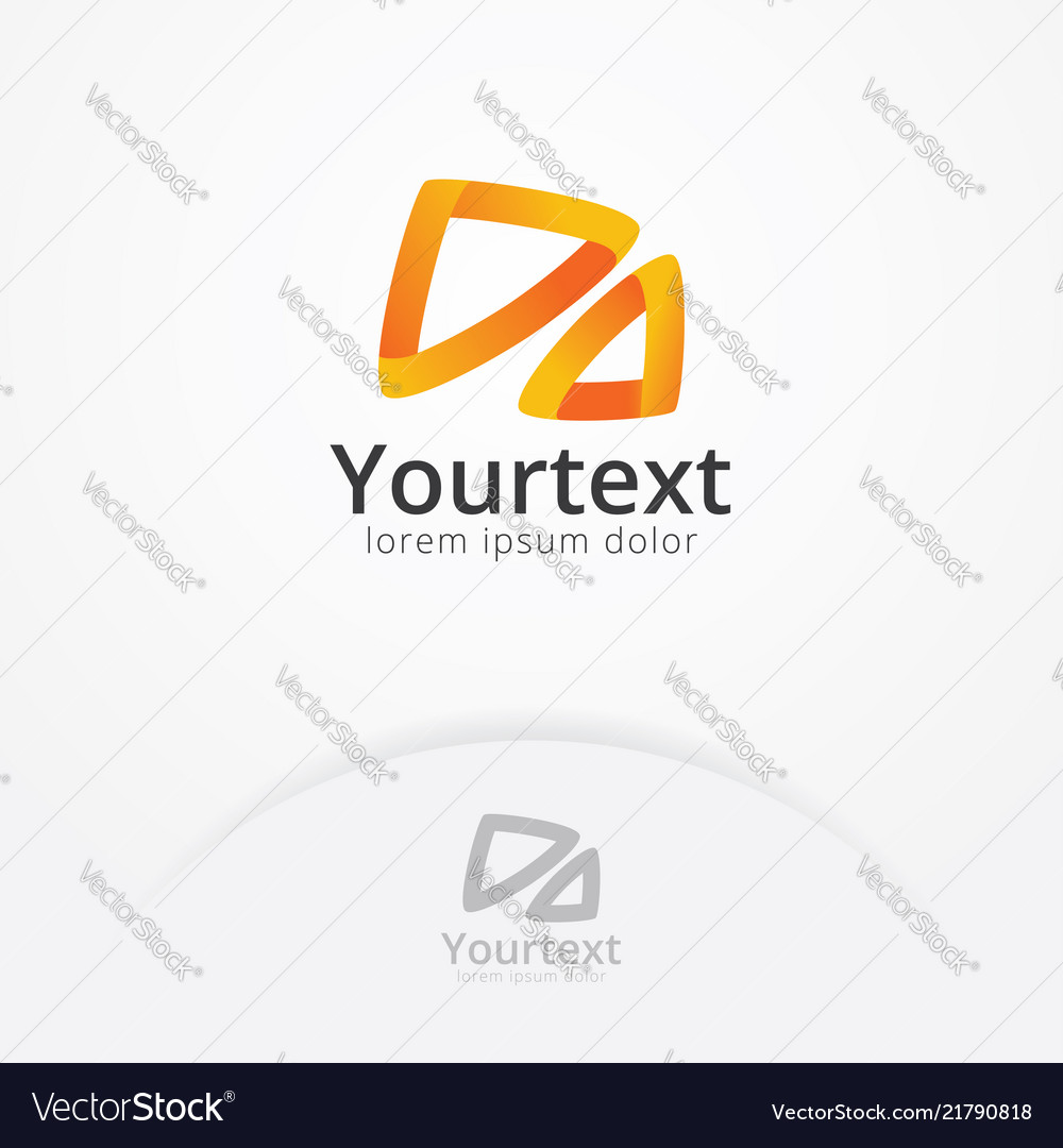 Abstract logo with gradient color