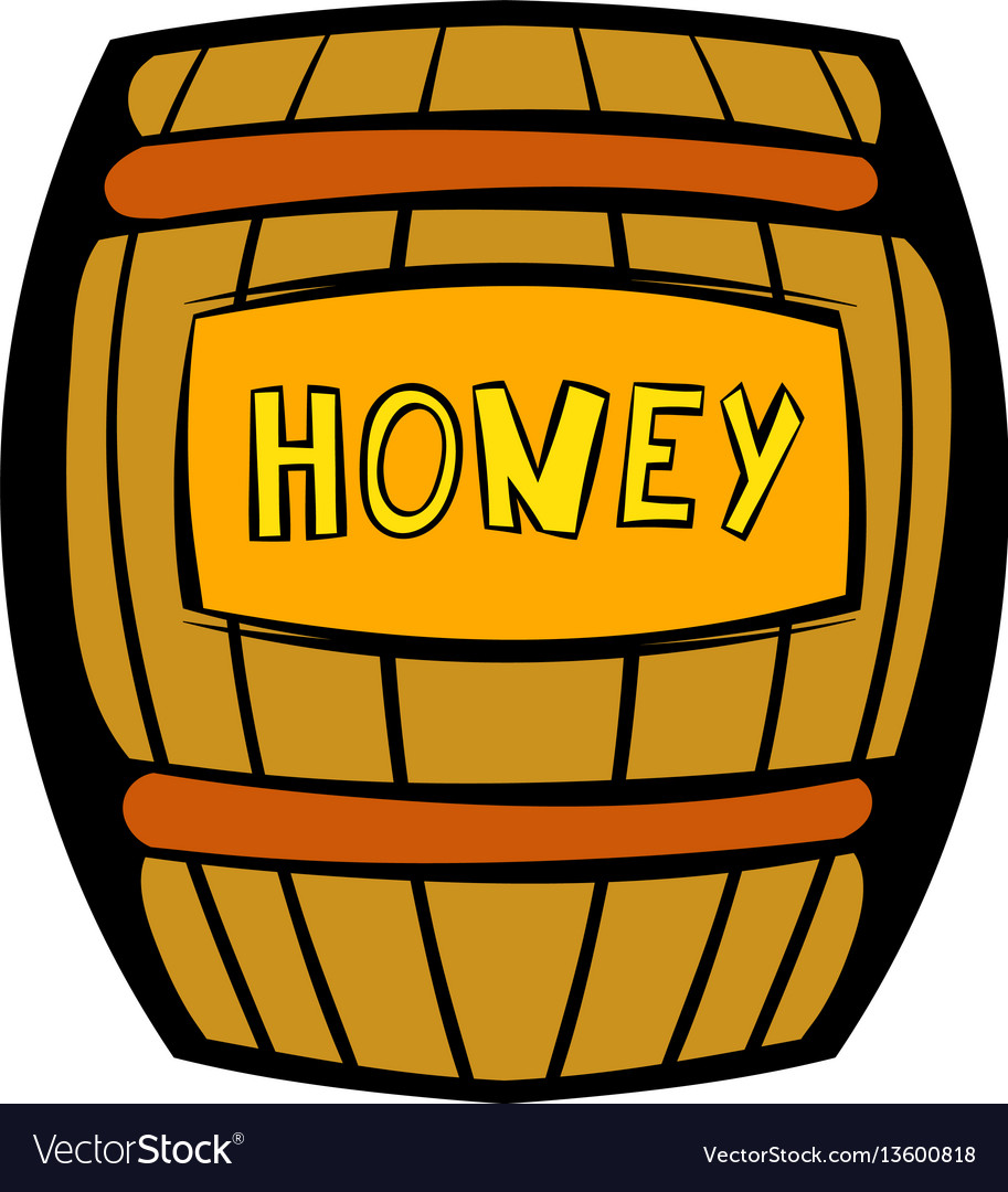 Barrel with honey icon icon cartoon