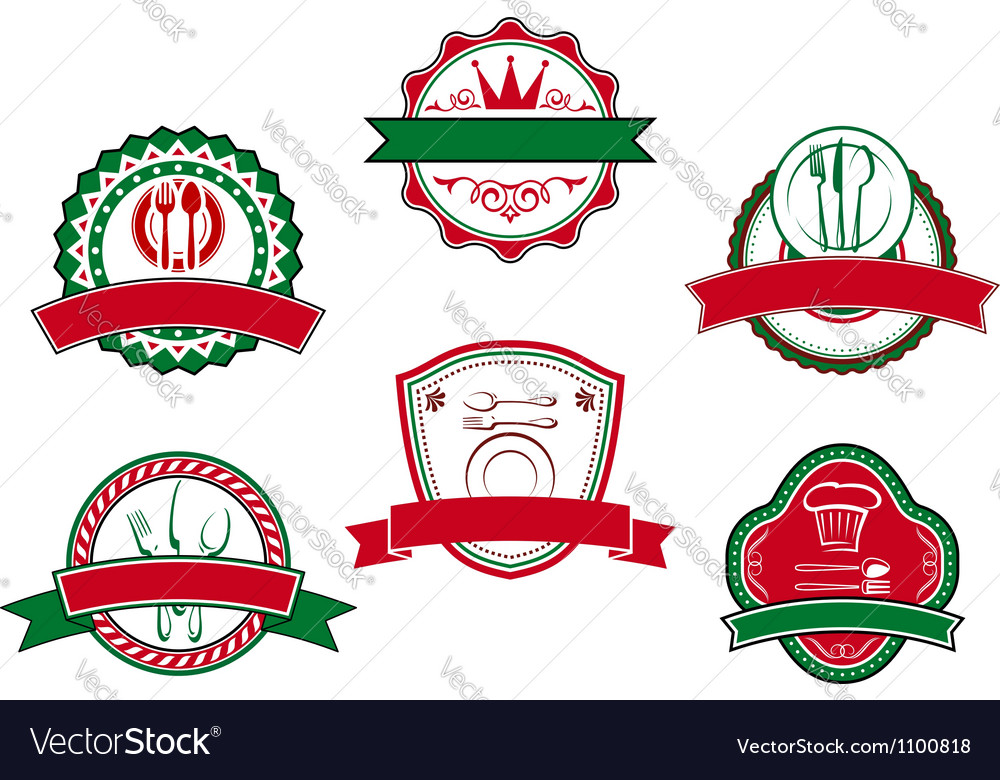 Italian cafe banners and labels vector image