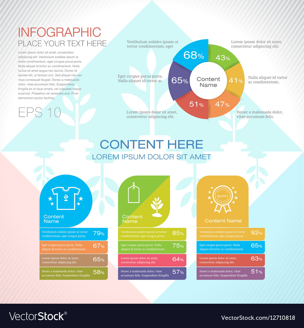Modern graph design or infographic design template