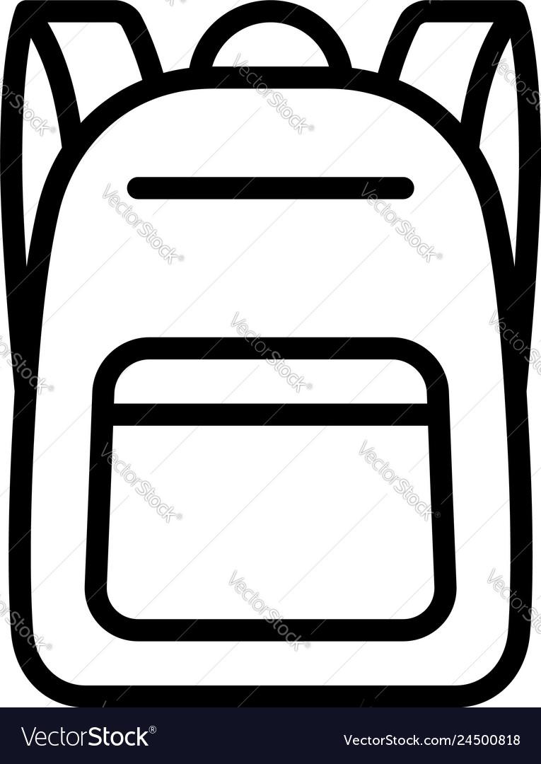 Schoolbag or school bag backpack line icon