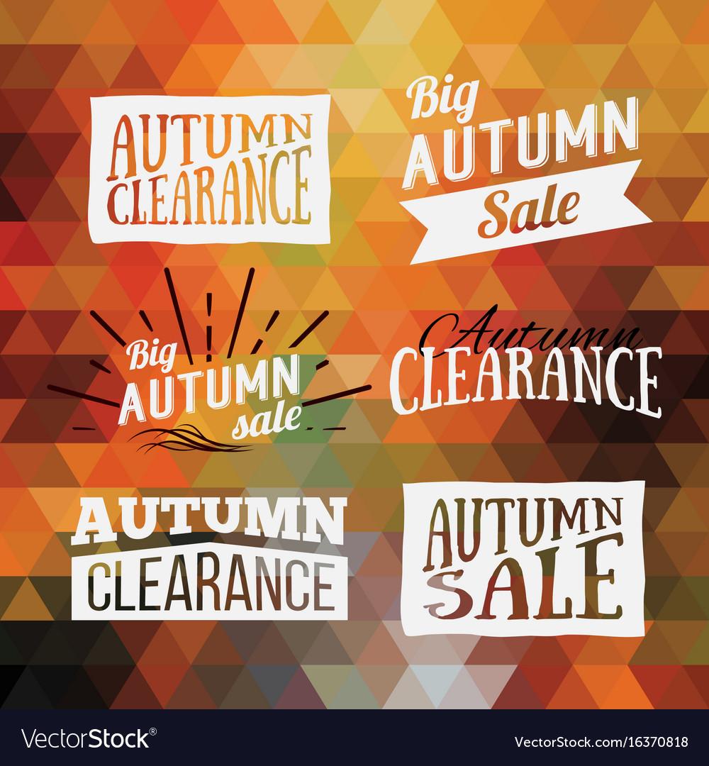 Vintage autumn geometric clearance banner