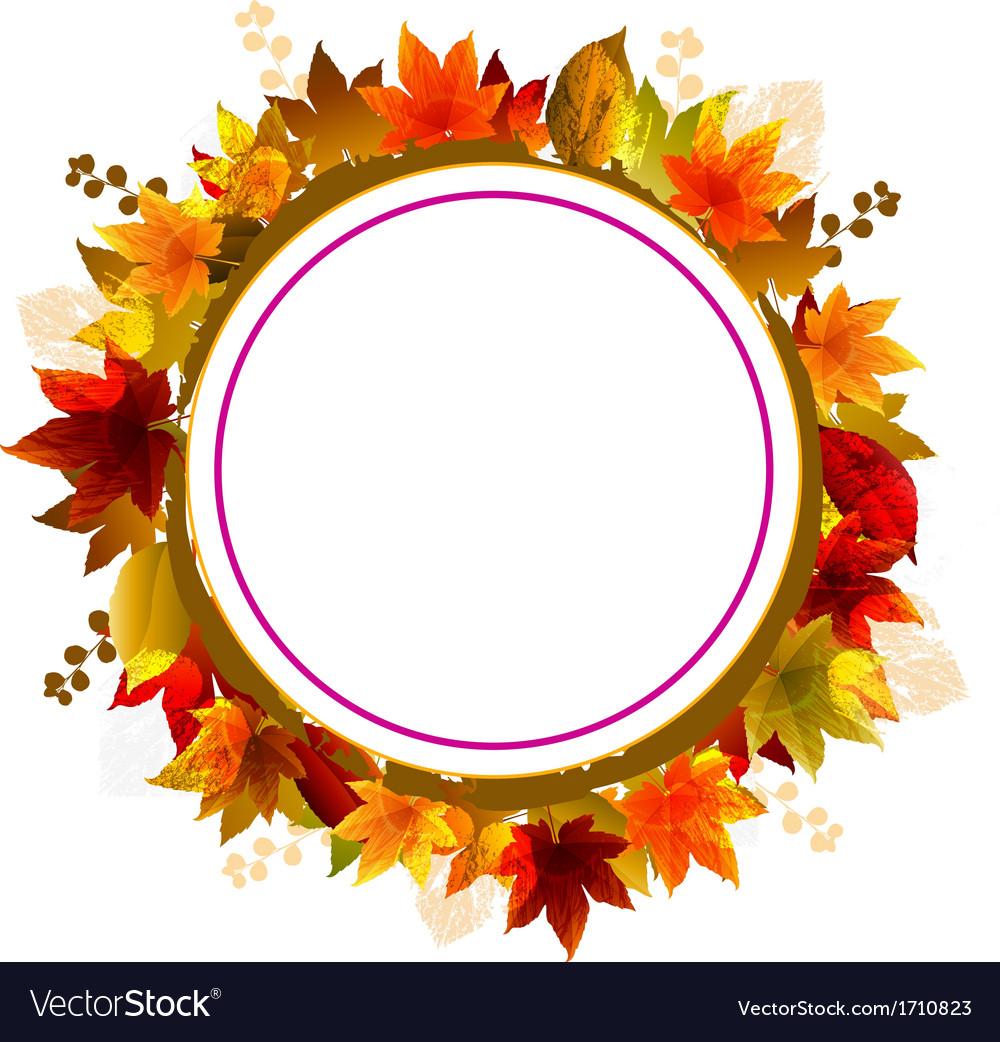 Autumn Leaves Frame vector image