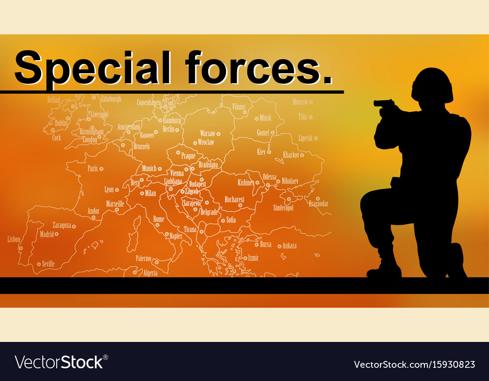 booklet special forces sniper and world map vector image