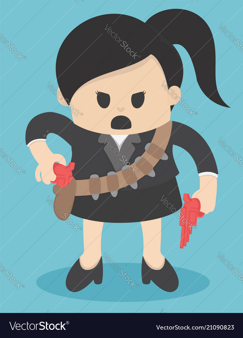 Business concept cartoon business woman in suit