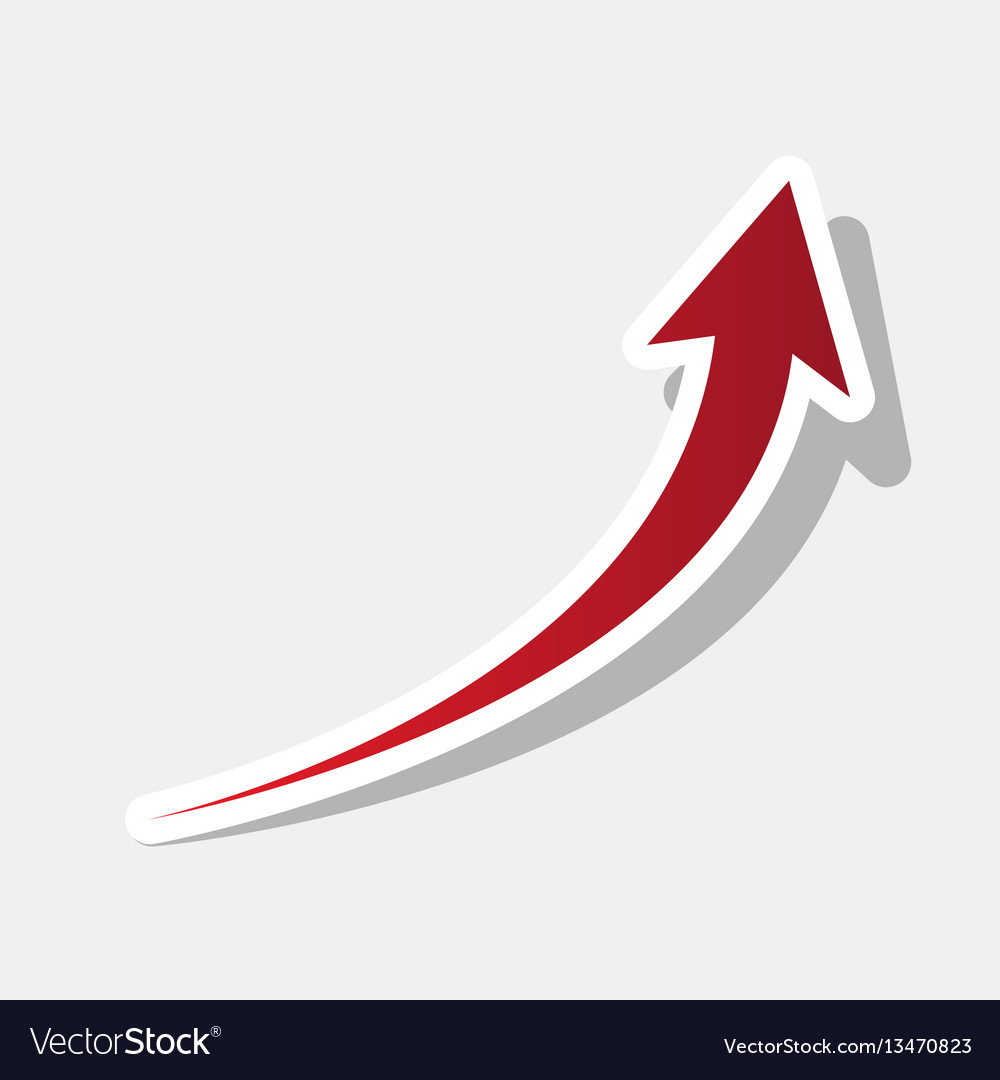 Growing arrow sign new year reddish icon vector image