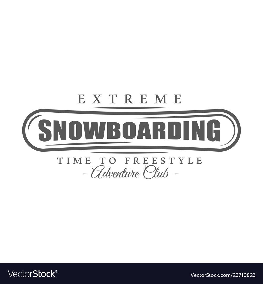 Vintage snowboarding label