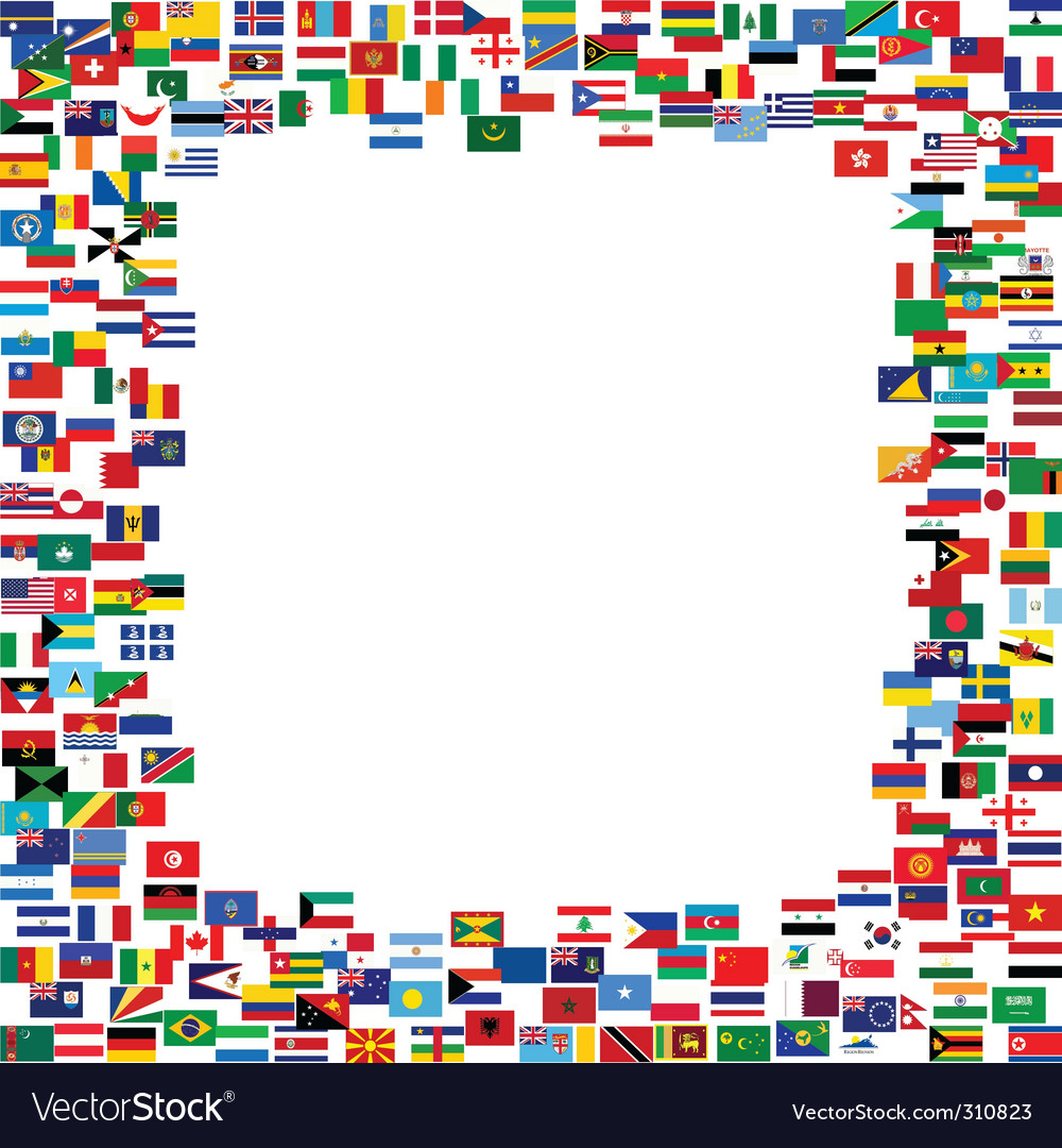 world flags royalty free vector image vectorstock