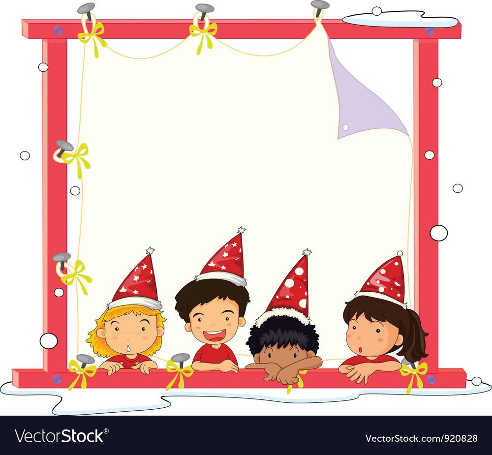 4 kids vector image