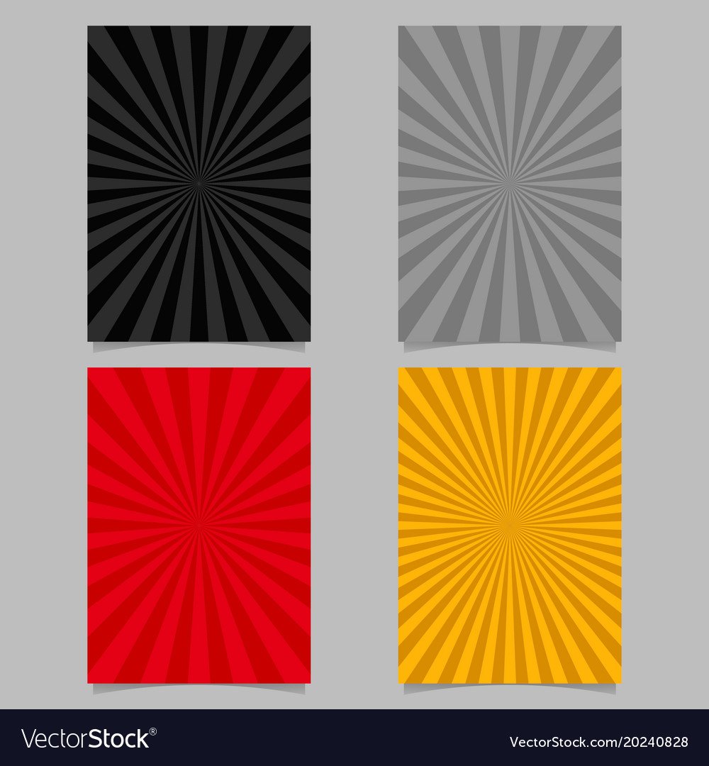 Abstract colored ray burst pattern brochure