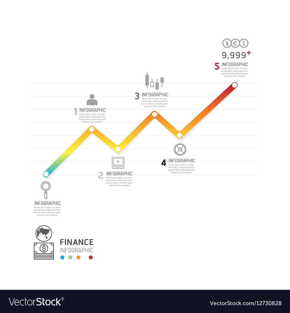 Business data process chart Abstract elements