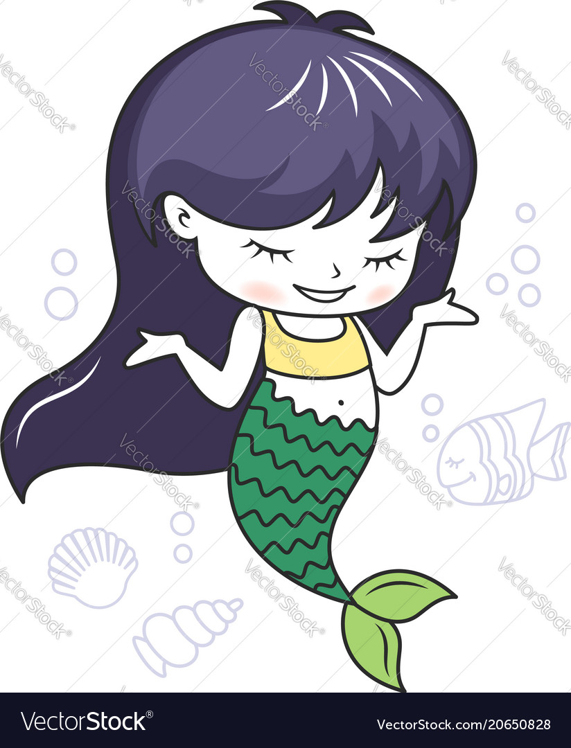 Animated Pictures Of Seashells cute little mermaid with a fish and seashells