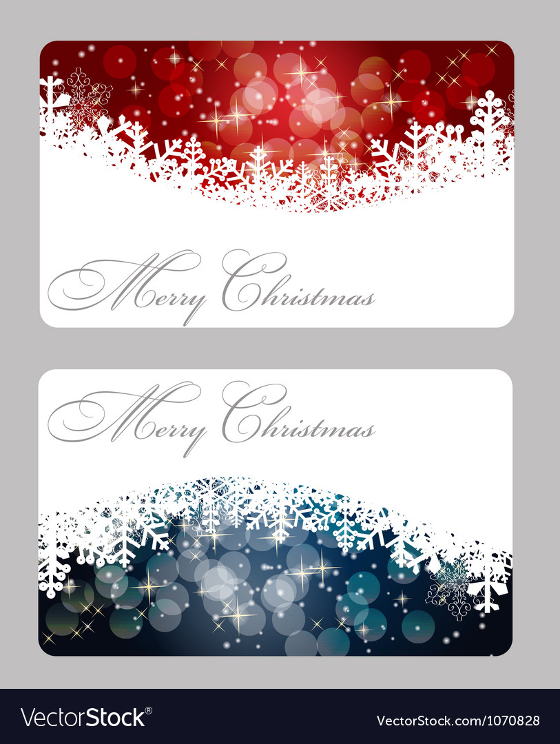Elegant Christmas Card Template Royalty Free Vector Image