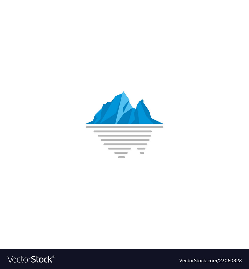 Ice mountain frozen logo