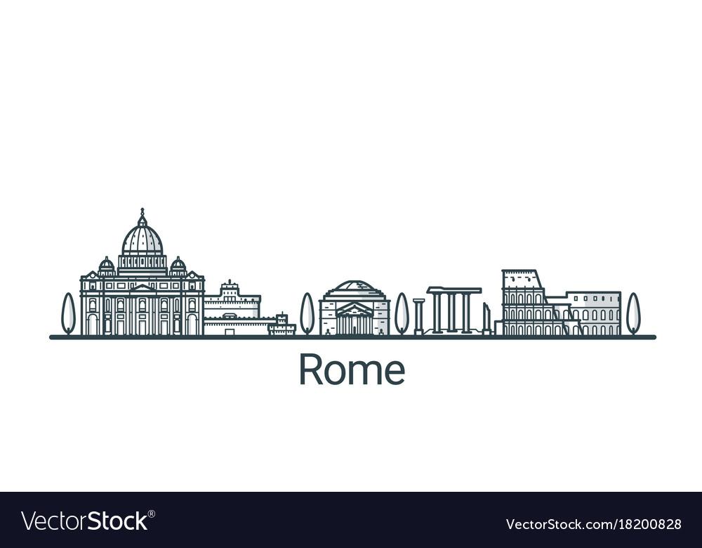 Outline rome banner