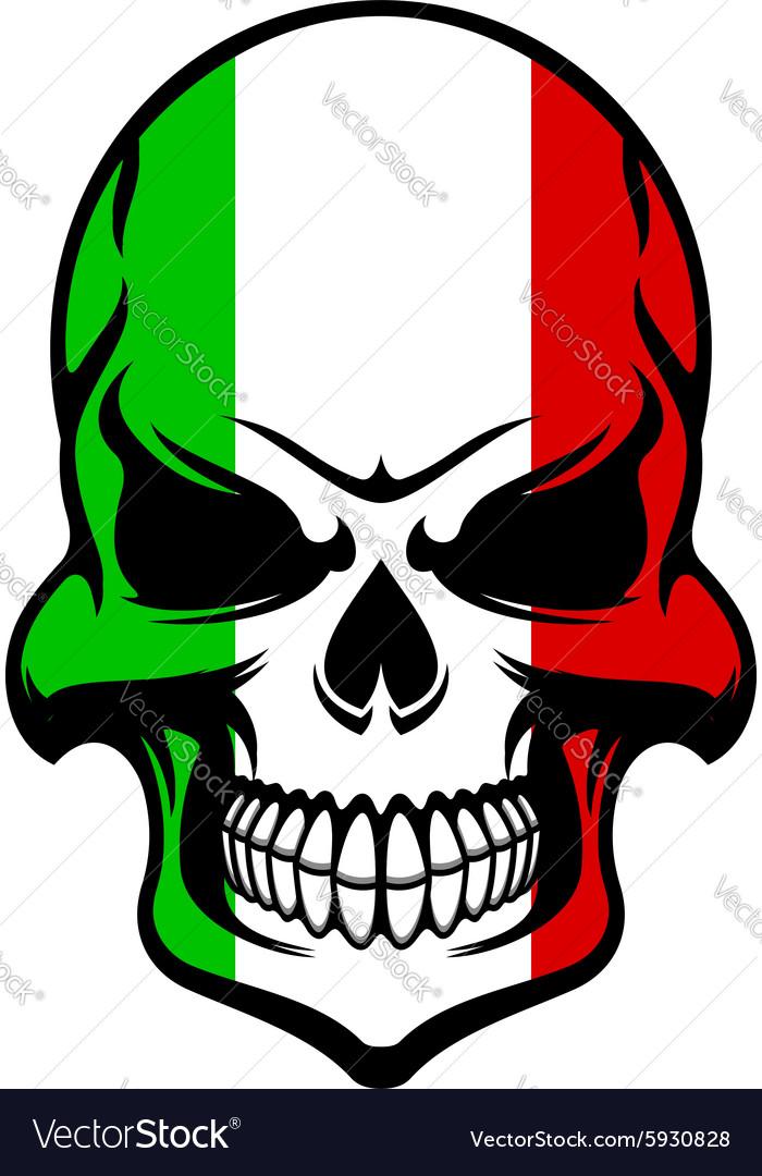 Skull in colors of the Italian flag