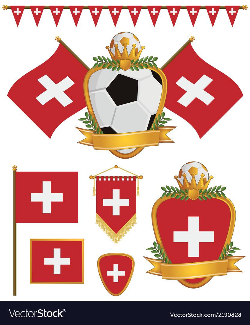 Switzerland flags vector image