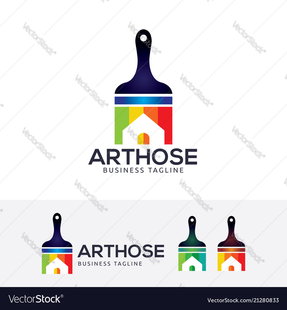 Art house logo design vector image
