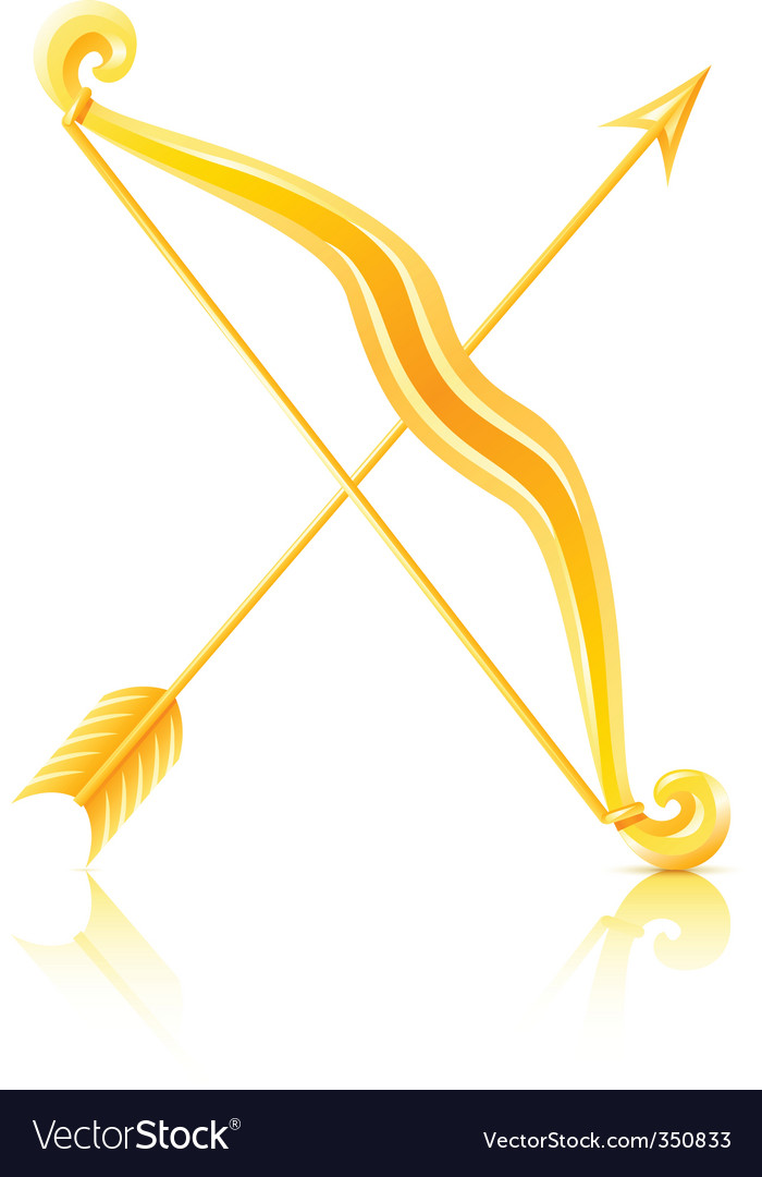 Bow with arrow vector image