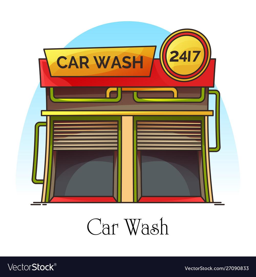 Car wash station or carwash building auto washer