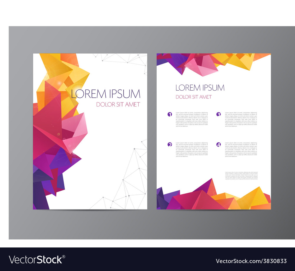 Flyer green and blue brochure abstract vector image