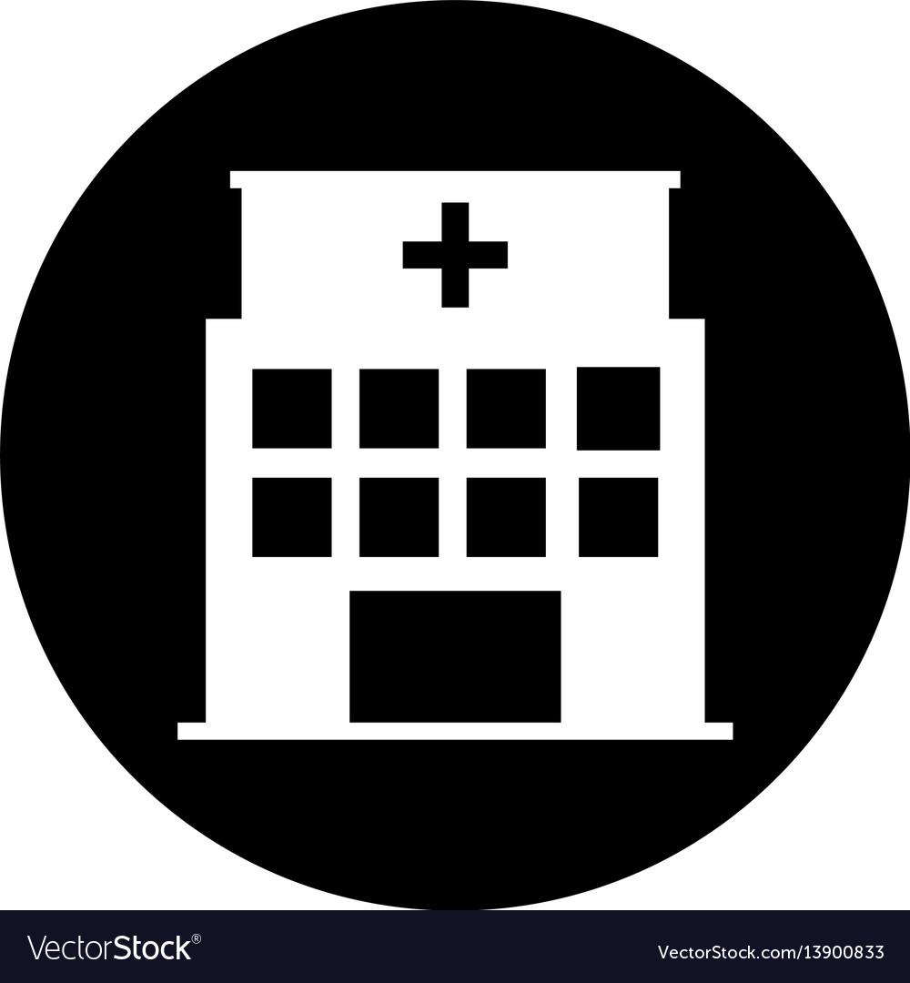 Hospital building exterior icon
