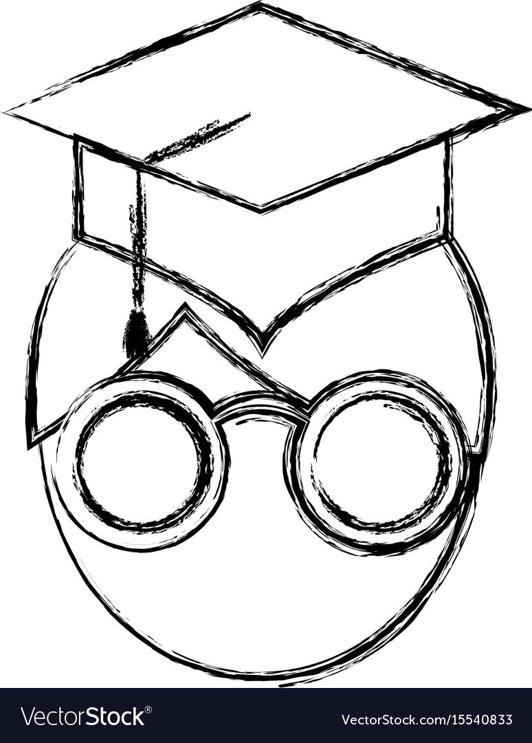 Man with graduation cap icon