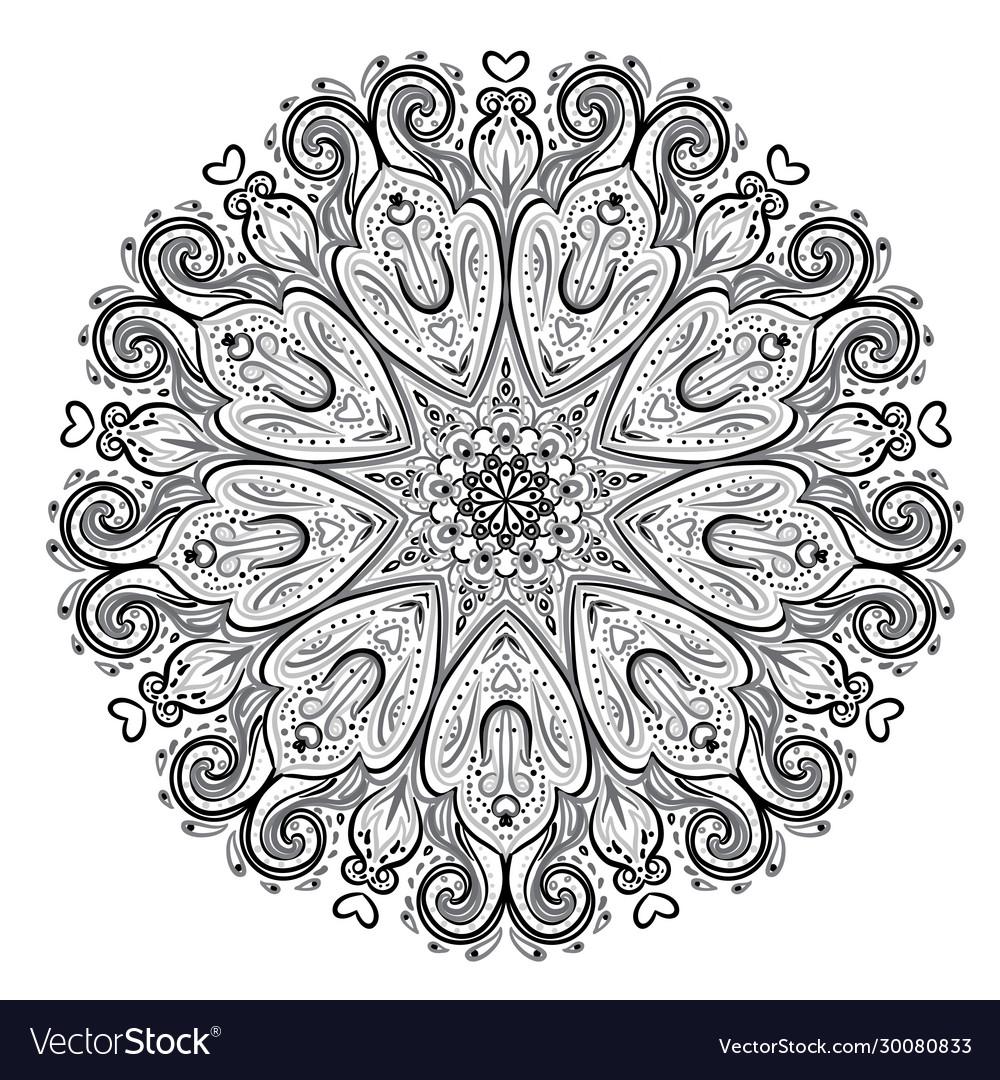 Mandala beautiful vintage round pattern hand