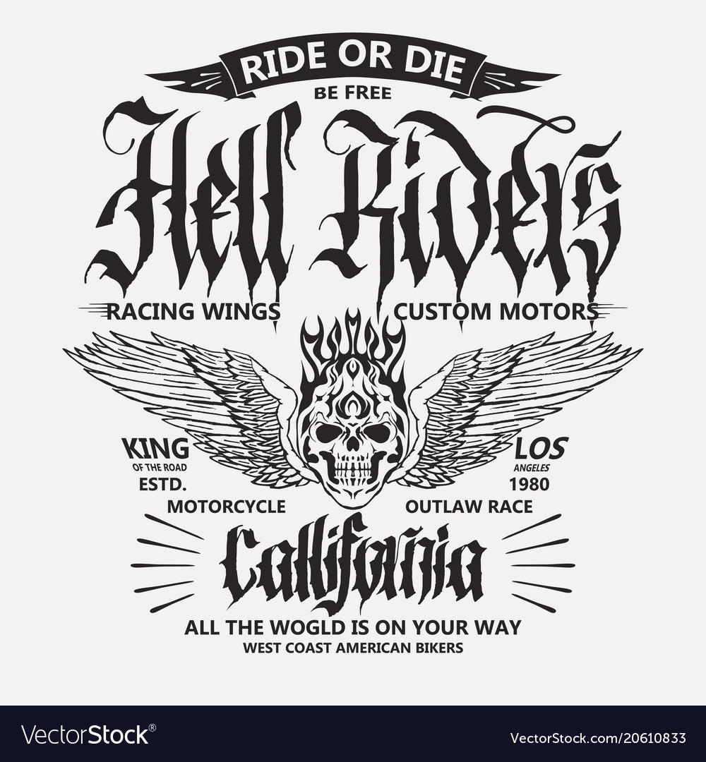 Motorcycle biker sport t-shirt emblem