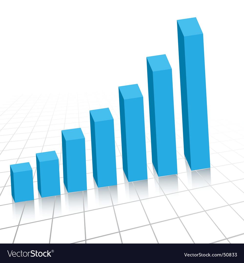Rising graph vector image