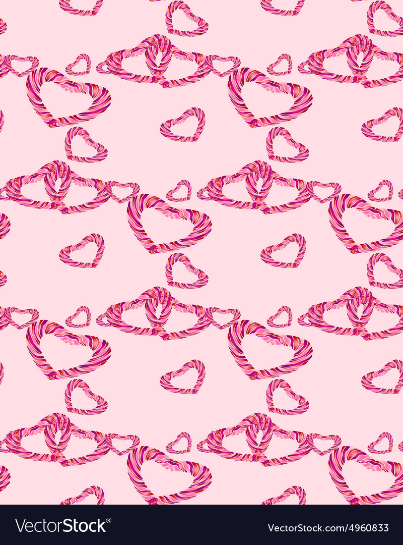 Striped heart pattern vector image