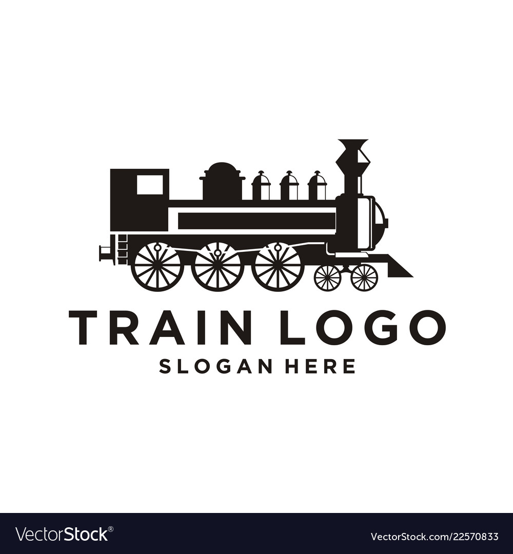 Train Logo Design Inspiration Royalty Free Vector Image