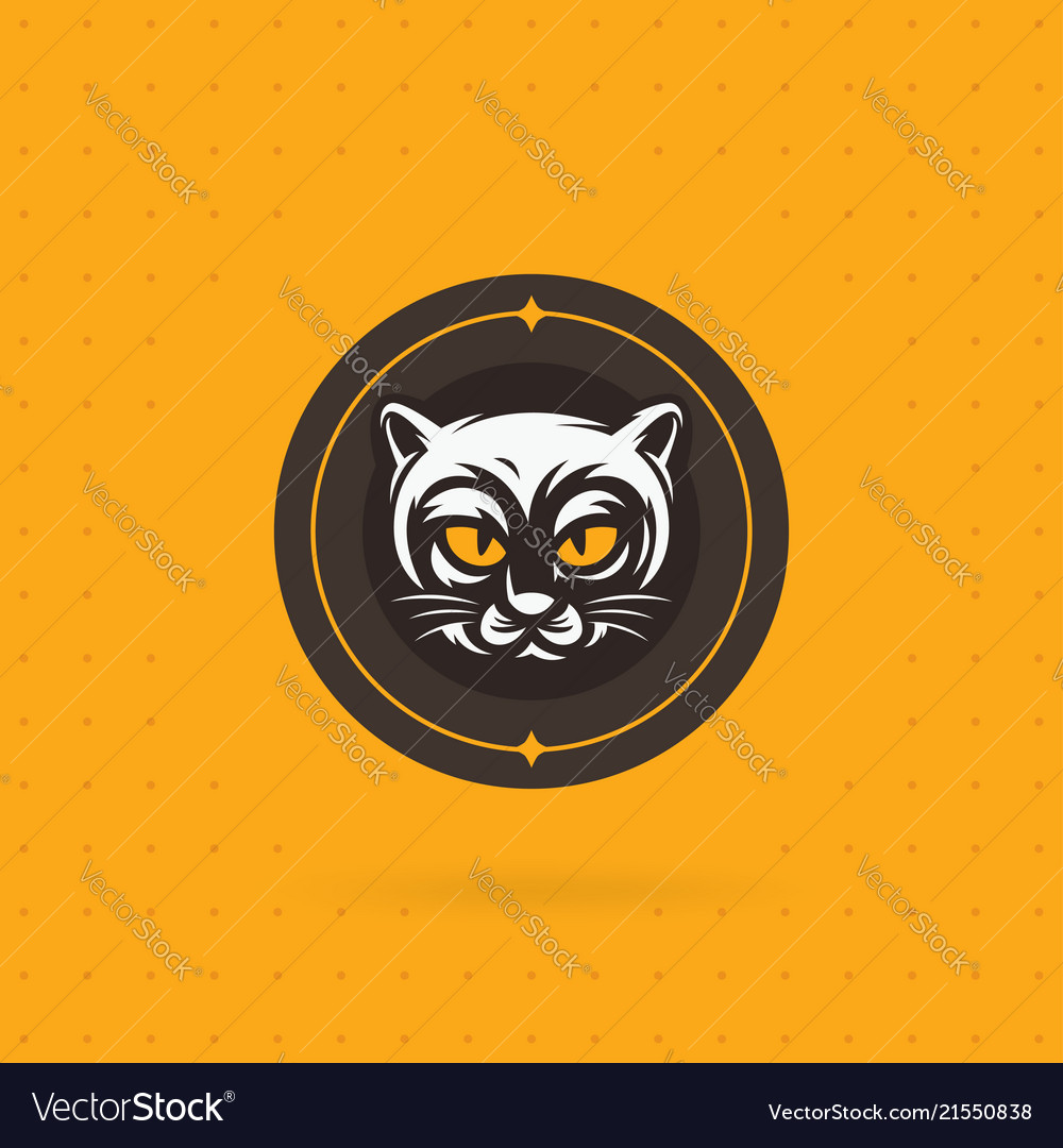 Cat icon with circle