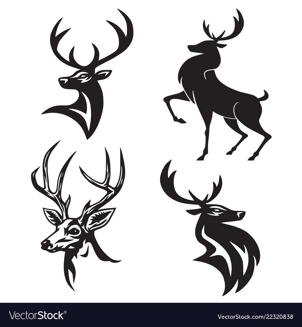 Deer logo set premium design