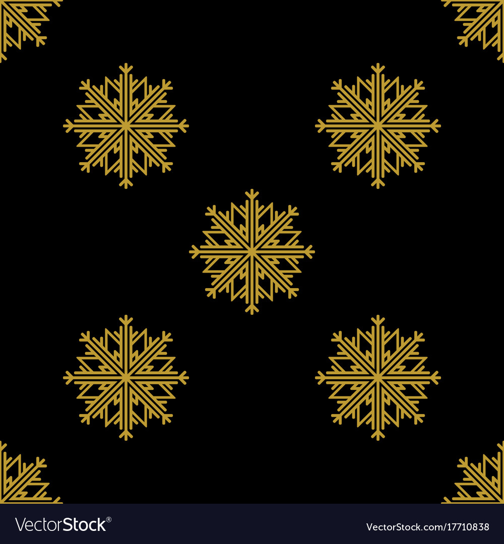 Golden vintage decor seamless pattern