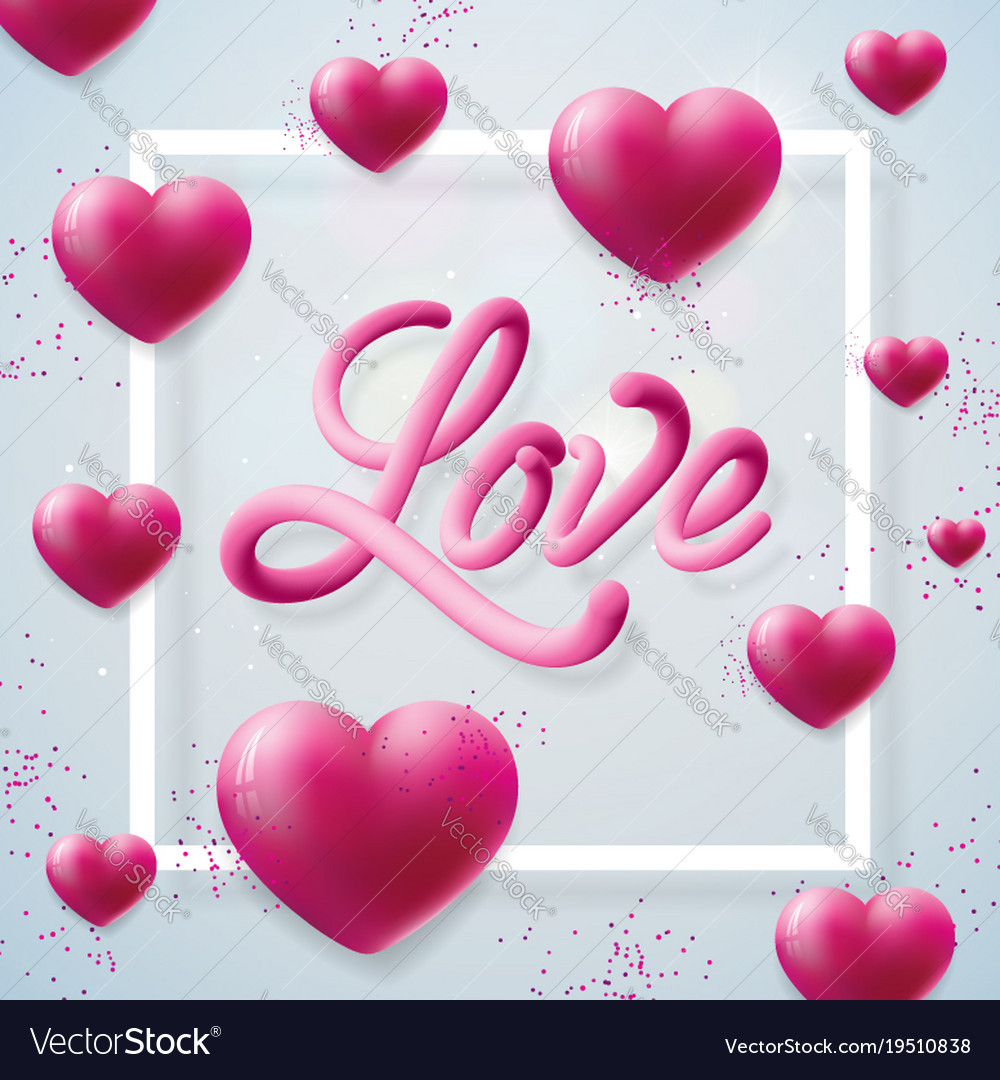 Happy Valentines Day With Love Letter Royalty Free Vector