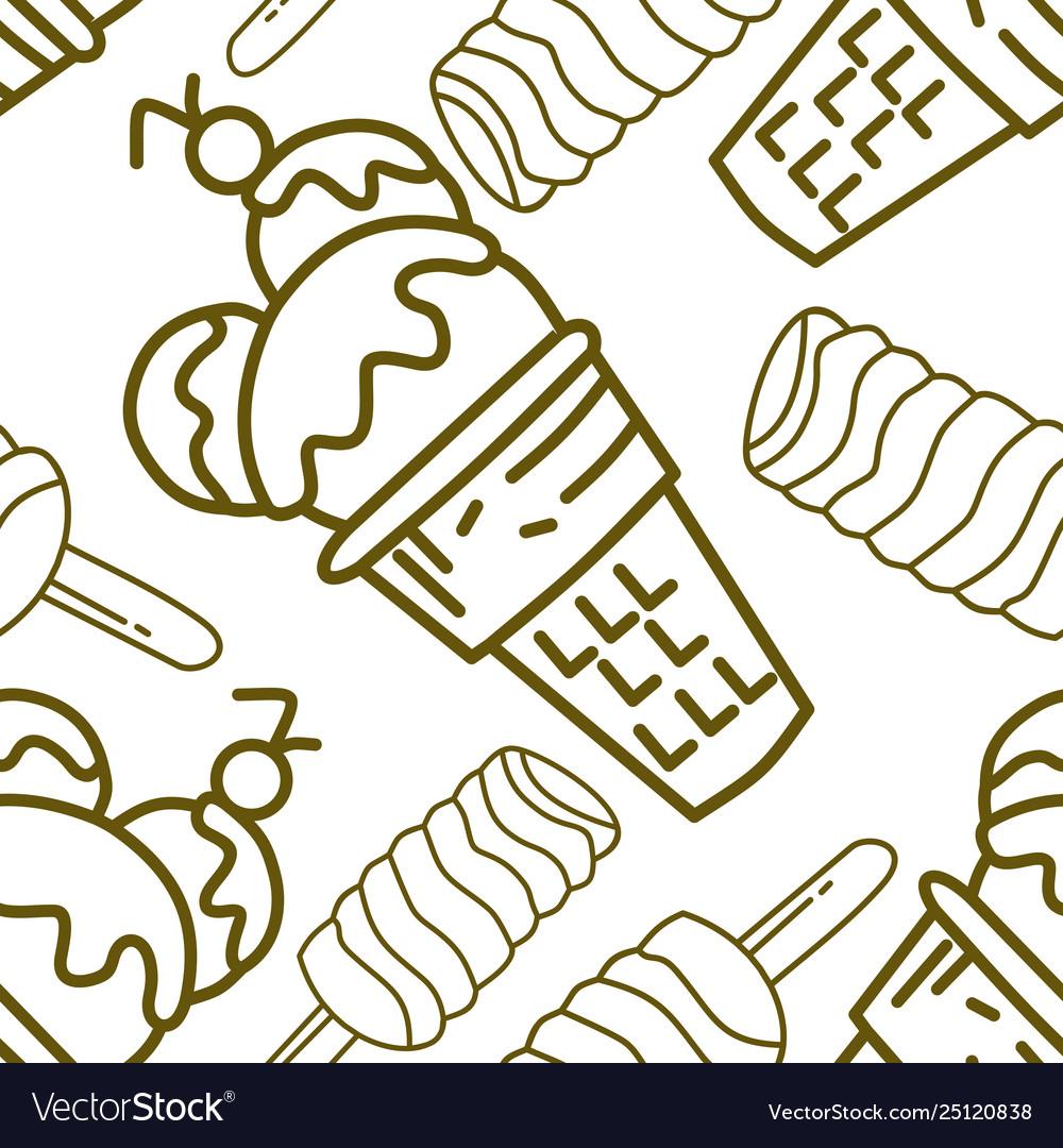 Ice cream pattern seamless template