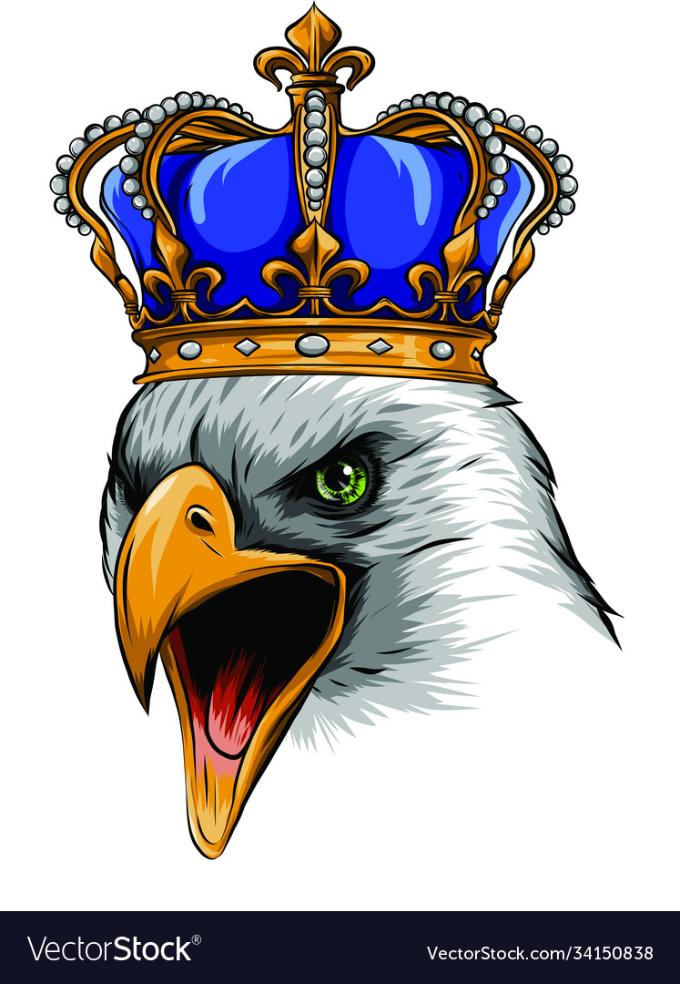 Mascot with crowned american eagle