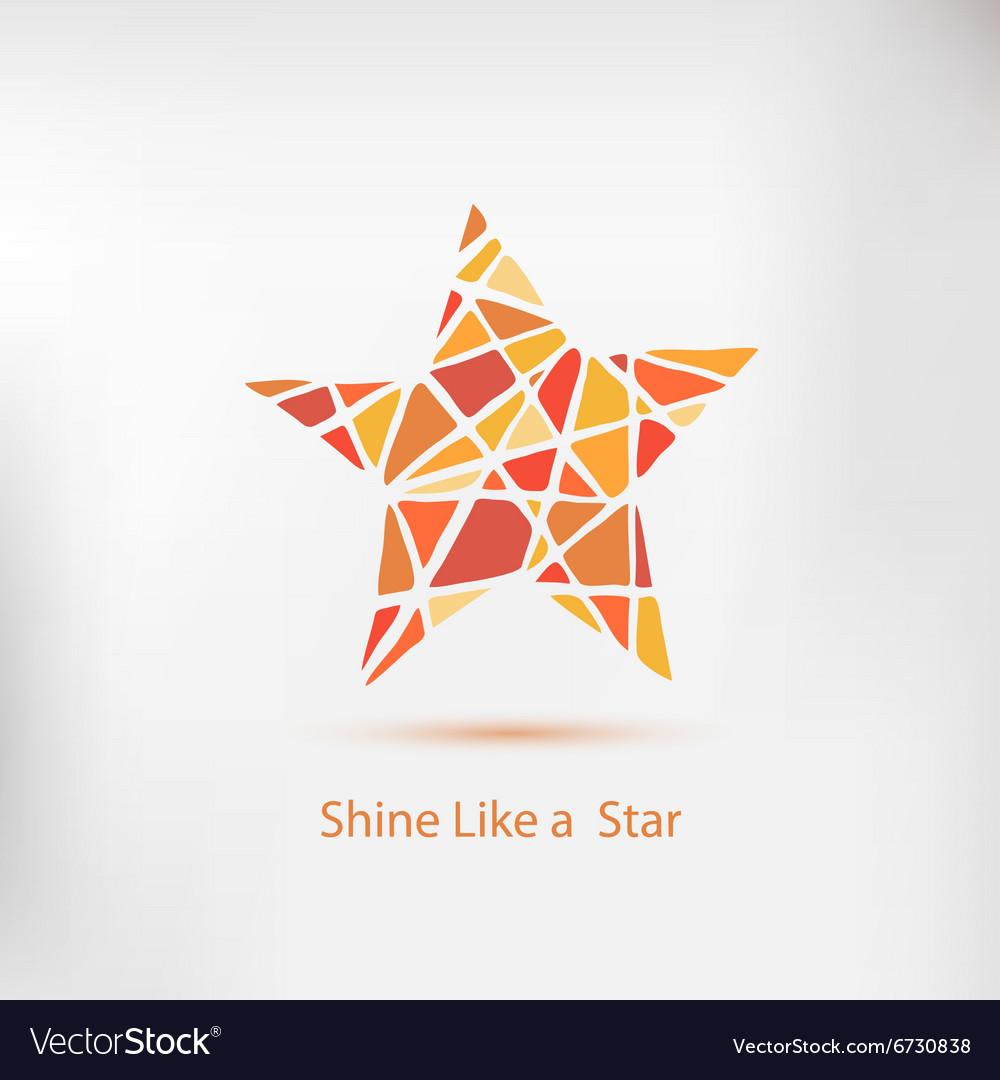 Shine like a star Handdrawn star element