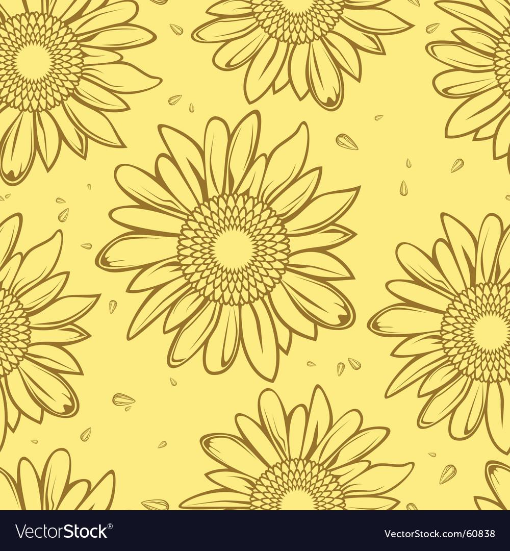 Sunflower seamless