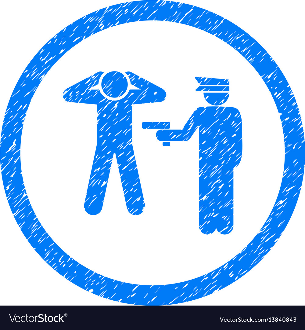 Arrest rounded grainy icon