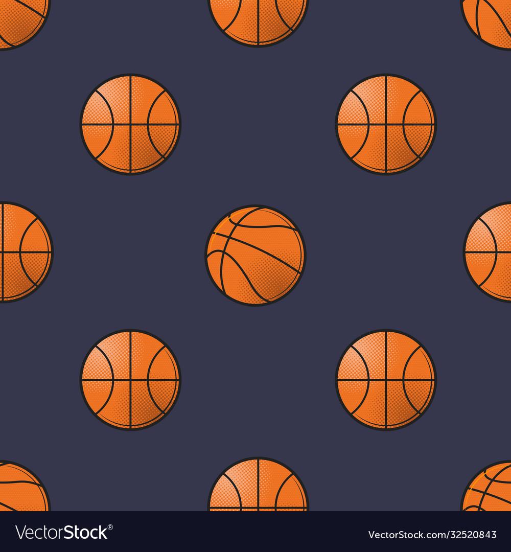 Basket balls seamless pattern
