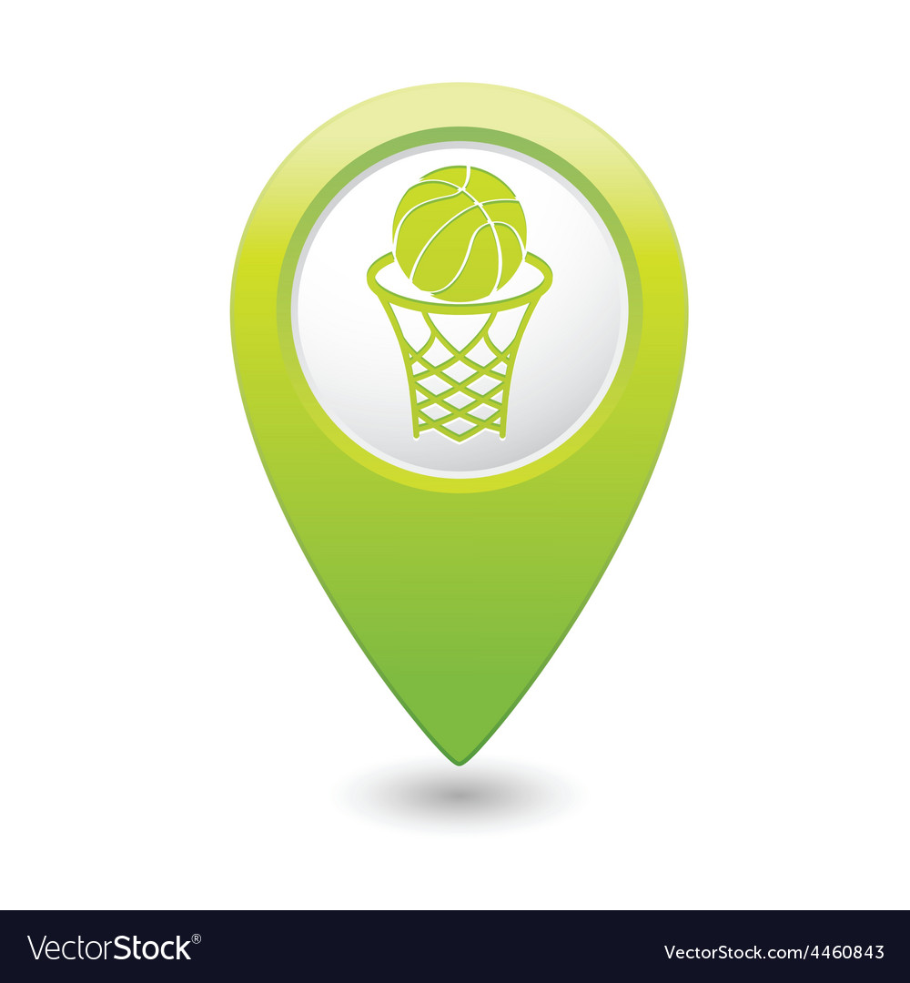 Basketball GREEN map pointer