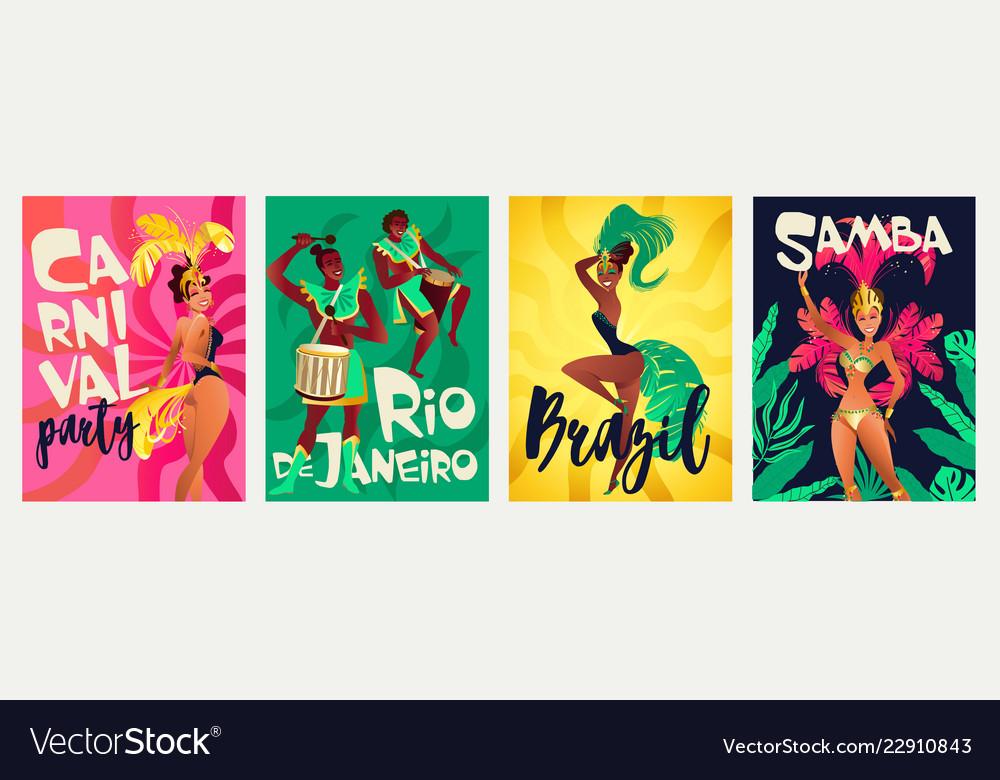 Brazilian annual carnival festival celebrations