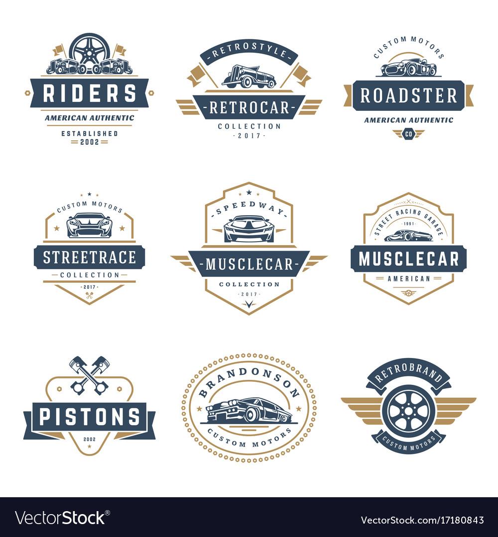 Car logos templates design elements set