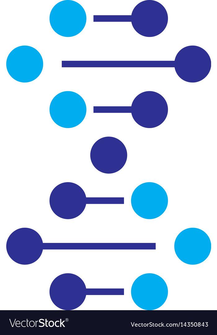 Dna icon dna logo dna symbol vector image