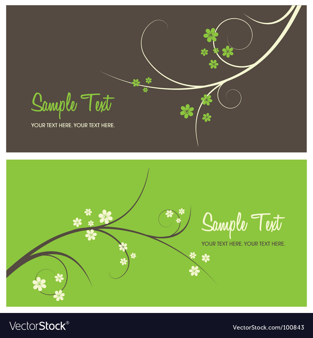 Floral card background