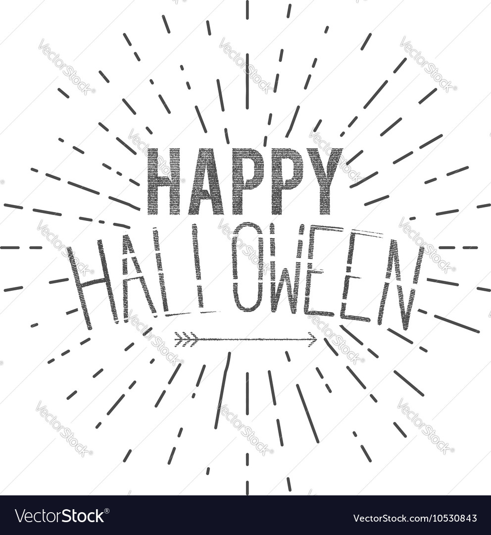 Happy Halloween label holiday wishes vector image