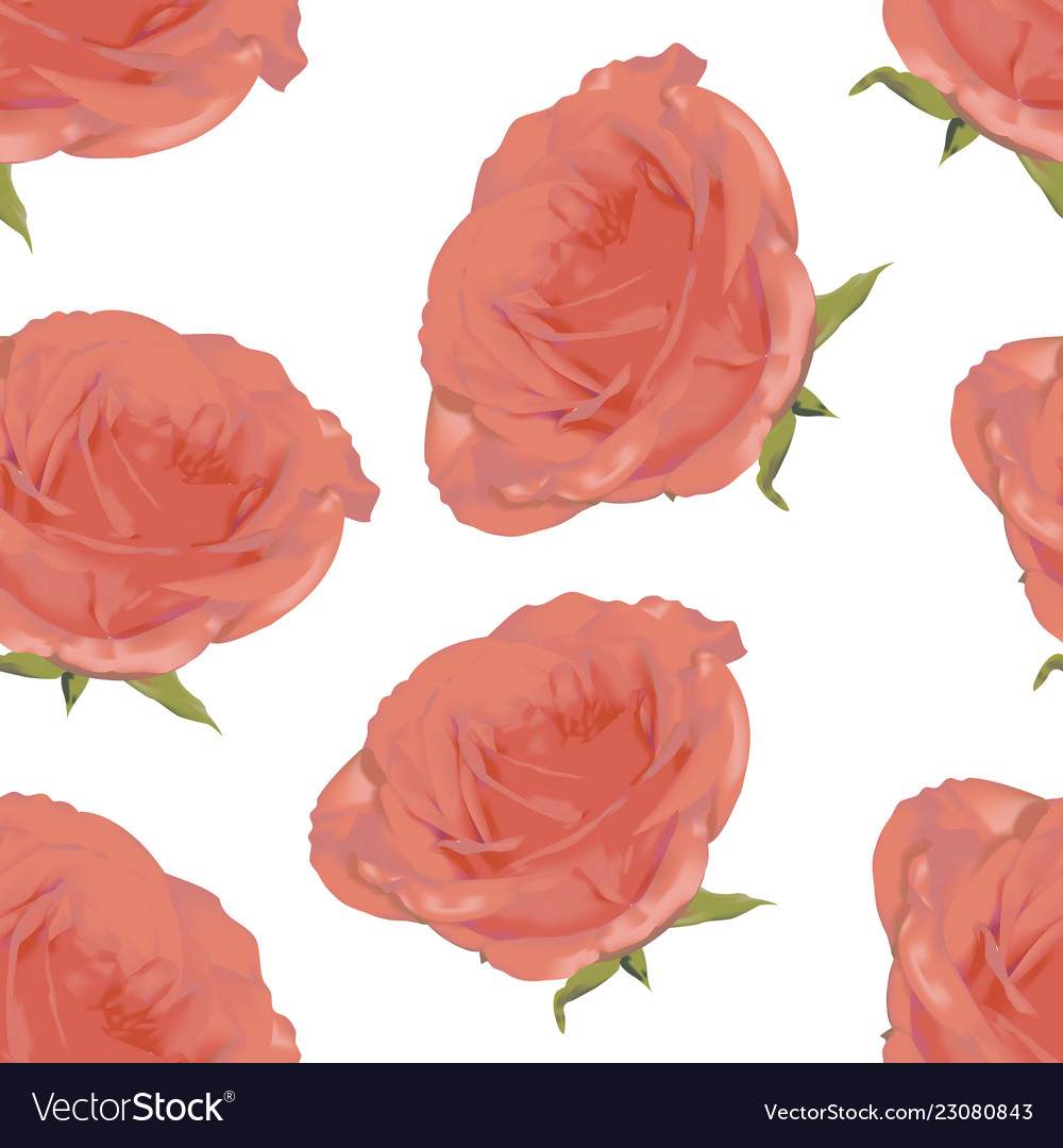 Romantic floral pattern on a white background